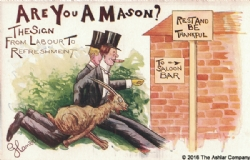Are you a Mason? The Sign From Labour to Refreshment Postcard Model # 361597