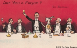 Are you a Mason? The Banquet Postcard Model # 361598