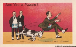 Are you a Mason? Giving the Charge Postcard Model # 361599