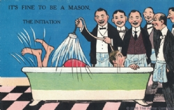 It's Fine to be a Mason. The Initiation Postcard Model # 361612