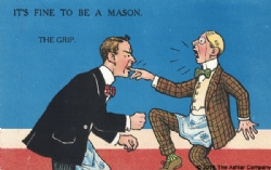 It's Fine to be a Mason. The Grip Postcard Model # 361616