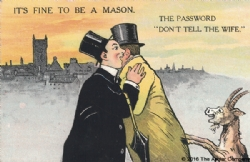 It&#39s Fine to be a Mason. The Password Postcard Model # 361618