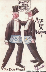 Are you a Mason? The Password Postcard Model # 361621
