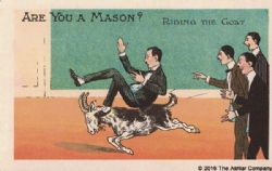 Are you a Mason? Riding the Goat Postcard Model # 361624