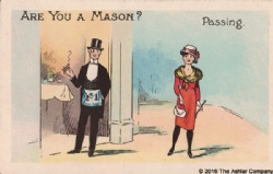 Are you a Mason? Passing Postcard Model # 361625