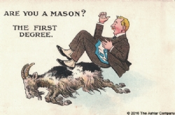 Are you a Mason? The First Degree Postcard Model # 361626