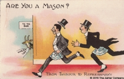 Are you a Mason? From Labour to Refreshment Postcard Model # 361628
