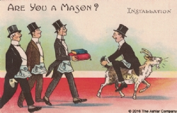 Are you a Mason? Installation Postcard Model # 361629