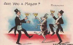 Are you a Mason? Harmony Postcard Model # 361632