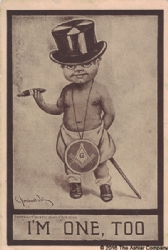 I&#39m one too. Masonic Postcard Model # 361635