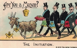 Are you a Mason? The Initiation Postcard Model # 361637
