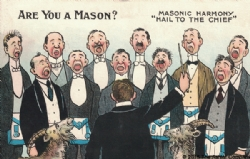 Are you a Mason? Masonic Harmony Postcard Model # 361644