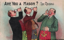 Are you a Mason? The Raising Postcard Model # 361734