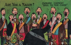 Are you a Mason? Masonic Harmony Postcard Model # 361735