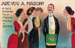 Are you a Mason? A safe husband... Postcard Model # 361763