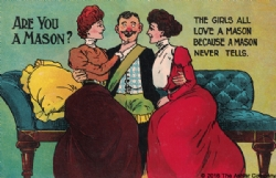 Are you a Mason? The girls all love a Mason... Postcard Model # 361765