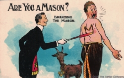Are you a Mason? Branding the Mason Postcard Model # 361766