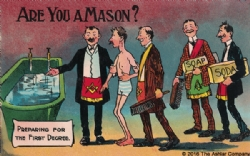 Are you a Mason? Preparing for the First Degree Postcard Model # 361768