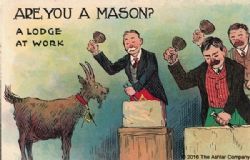 Are you a Mason? A Lodge At Work Postcard Model # 361770