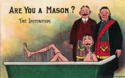 Are you a Mason? The Initiation Postcard Model # 361773