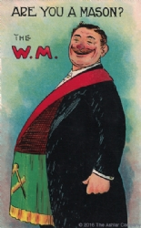 Are you a Mason? The W.M. Postcard Model # 361774