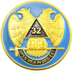 32nd Degree Wings Down Scottish Rite Auto Emblem