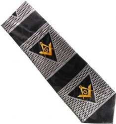 Triangle Emblem Masonic Neck Tie Model # 361862