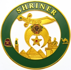 Shriners Cut Out Auto Emblem