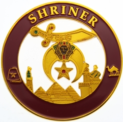 Shriners Cut Out Auto Emblem Model # 361879