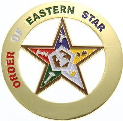 Eastern Star Cut Out Auto Emblem Model # 361882