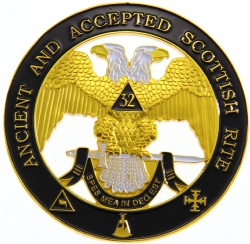 Scottish Rite 32nd Degree Cut Out Auto Emblem