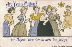 Are you a Mason? The Masons Wife giving away the Secret Postcard Model # 361890