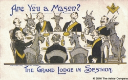 Are you a Mason? The Grand Lodge in Session Postcard Model # 361891