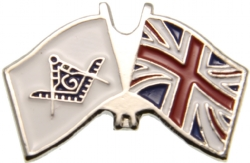 UK Mason Flag Pin Model # 361925