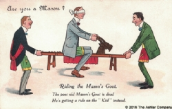 Are you a mason? Riding The Masons Goat Postcard Model # 361971