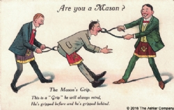 Are you a mason? The Masons Grip Postcard Model # 361972