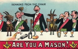 Are you a Mason? Remarks from the Chair Postcard Model # 361977