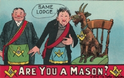 Are you a Mason? Same Lodge Postcard Model # 361978