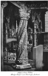 Apprentices Pillar at Roslyn Chapel Print Model # 362064