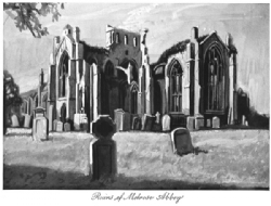 Ruins of Melrose Abbey Print Model # 362079