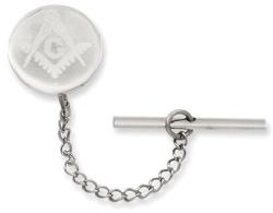 Rhodium-Plated With Chain Masonic Tie Tack Model # 362101