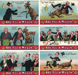 Are you a Mason? 6 Postcard Set Model # 362177