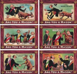 Are you a Mason? 6 Postcard Set Model # 362179