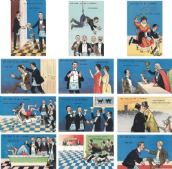 Its fine to be a Mason? 12 Postcard Set Model # 362180