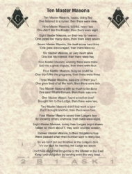 Ten Master Masons Poem Model # 362190