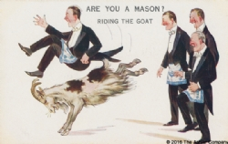 Are you a Mason? Riding the Goat Postcard Model # 362274