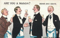 Are you a Mason? Signs and Grips Postcard Model # 362275