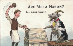 Are you a Mason? The Apprentice Postcard Model # 362276