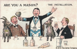 Are you a Mason? The Installation Postcard Model # 362278