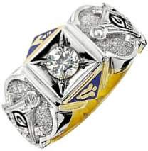 Jeweled Master Mason Custom Ring